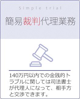 簡易裁判代理業務